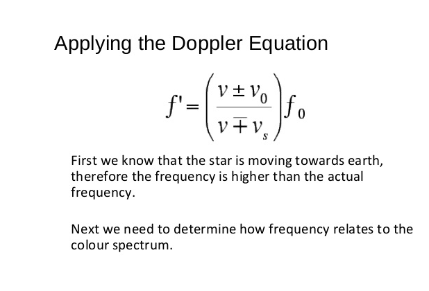 Doppler Effect Equation